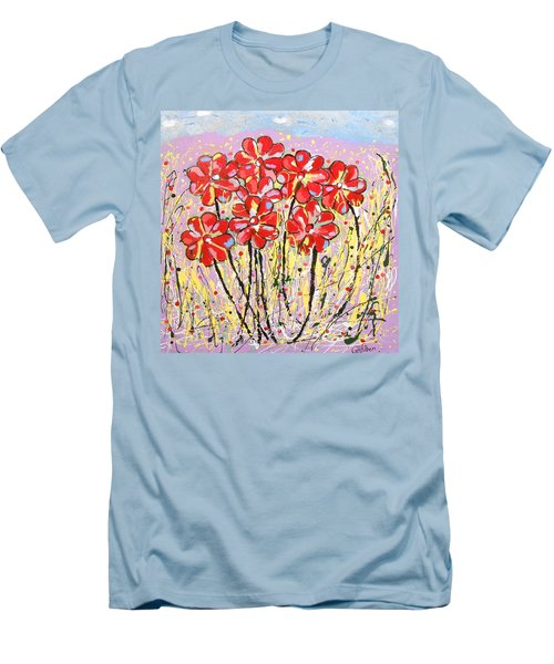 Lavender Flower Garden Men's T-Shirt (Athletic Fit)