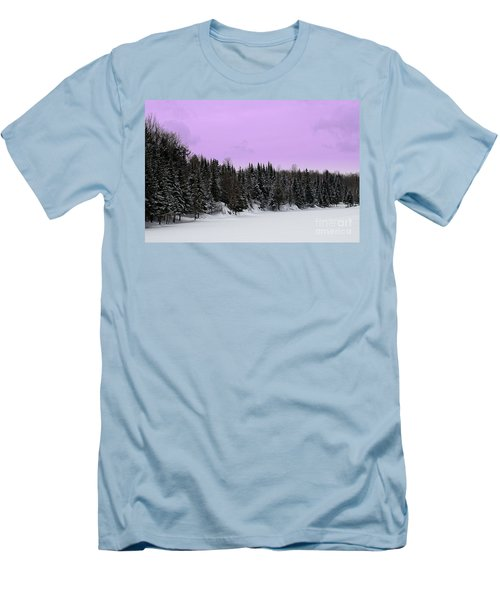 Men's T-Shirt (Slim Fit) featuring the photograph Lavender Skies by Bianca Nadeau