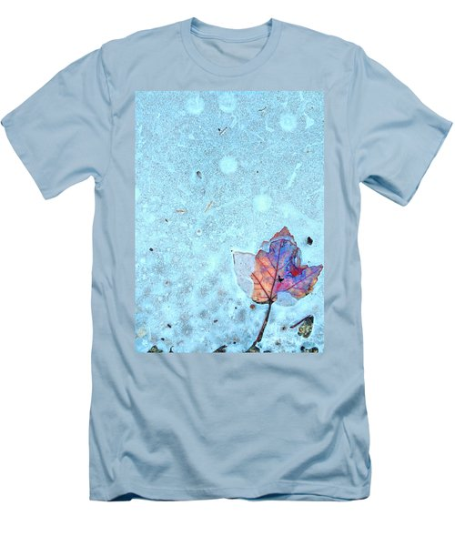Leaf In Ice Men's T-Shirt (Athletic Fit)
