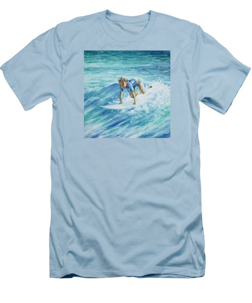 Learning To Fly Men's T-Shirt (Slim Fit) by William Love