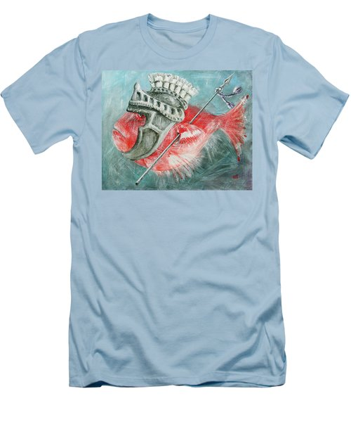 Men's T-Shirt (Slim Fit) featuring the painting Legionnaire Fish by Marina Gnetetsky