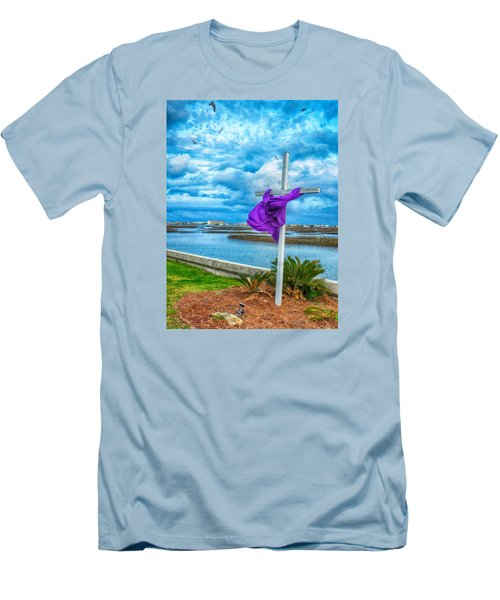 Men's T-Shirt (Slim Fit) featuring the photograph Lentin Cross by Bill Barber