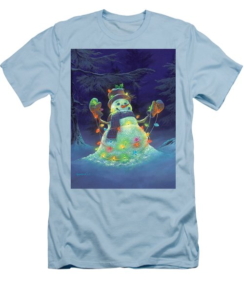 Let It Glow Men's T-Shirt (Slim Fit) by Michael Humphries