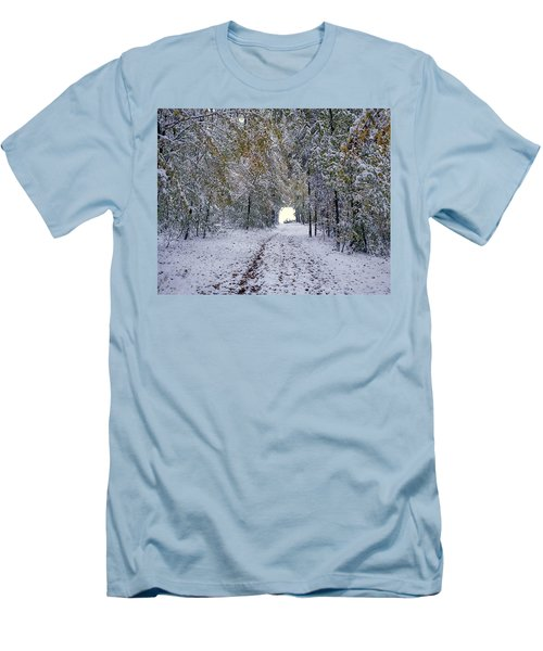 Men's T-Shirt (Slim Fit) featuring the photograph Let It Snow by Felicia Tica