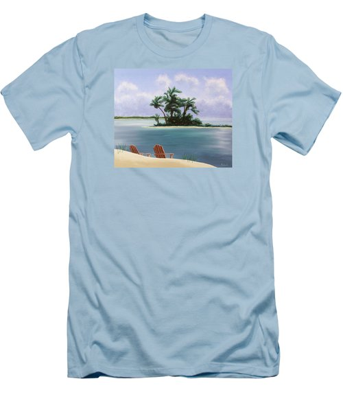 Let's Swim Out To The Island Men's T-Shirt (Slim Fit) by Jack Malloch
