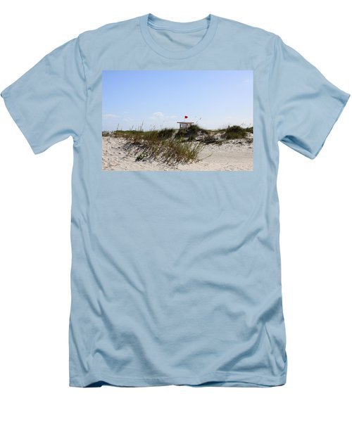 Men's T-Shirt (Slim Fit) featuring the photograph Lifeguard Station by Chris Thomas