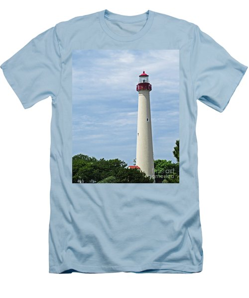 Light House At Cape May Nj Men's T-Shirt (Athletic Fit)