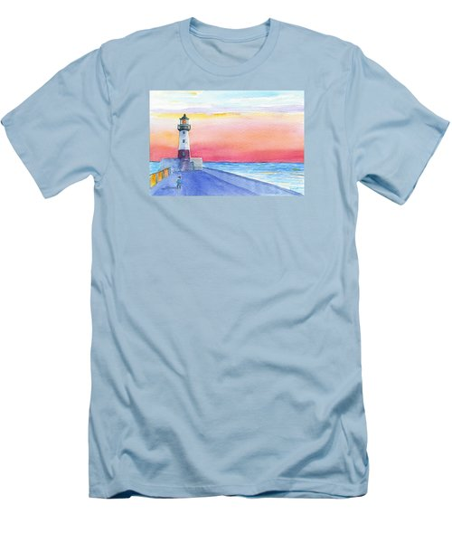 Lighthouse Keeper Men's T-Shirt (Slim Fit) by Anne Marie Brown