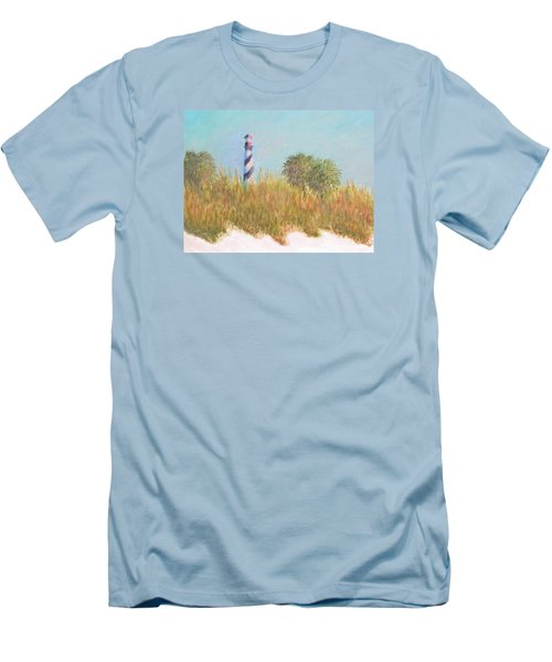Lighthouse View From St. Augustine Beach Men's T-Shirt (Athletic Fit)