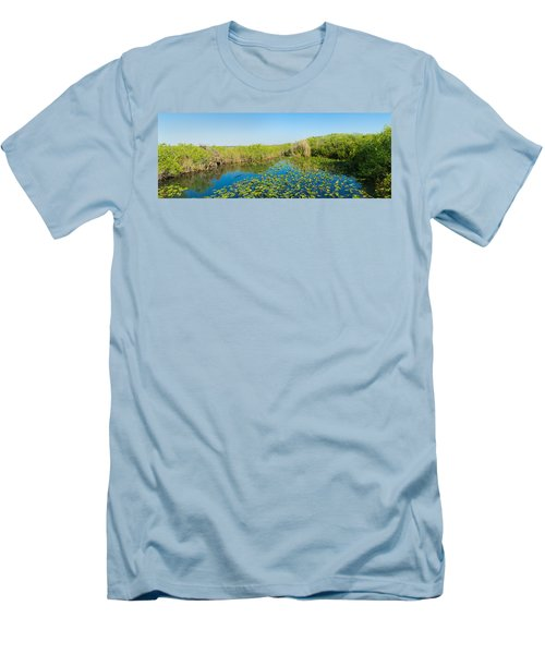 Lily Pads In The Lake, Anhinga Trail Men's T-Shirt (Athletic Fit)
