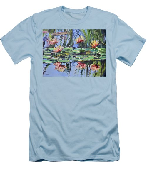 Lily Pond Reflections Men's T-Shirt (Athletic Fit)