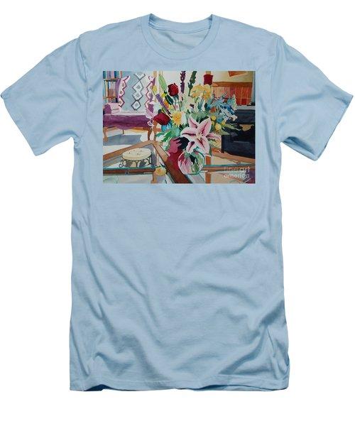 Lily Still Life Men's T-Shirt (Athletic Fit)