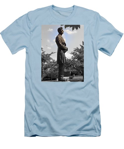 Lincoln At Lytle Park Men's T-Shirt (Slim Fit) by Kathy Barney