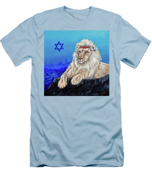 Lion Of Judah - Jerusalem Men's T-Shirt (Athletic Fit)