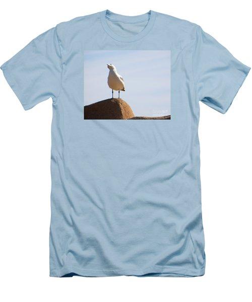 Listen-up Men's T-Shirt (Slim Fit) by Joy Hardee