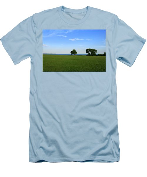 Men's T-Shirt (Slim Fit) featuring the photograph Listening To The Breeze  by Neal Eslinger