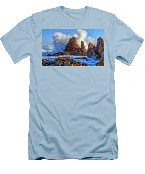 Men's T-Shirt (Slim Fit) featuring the painting Little Corona by Michael Pickett