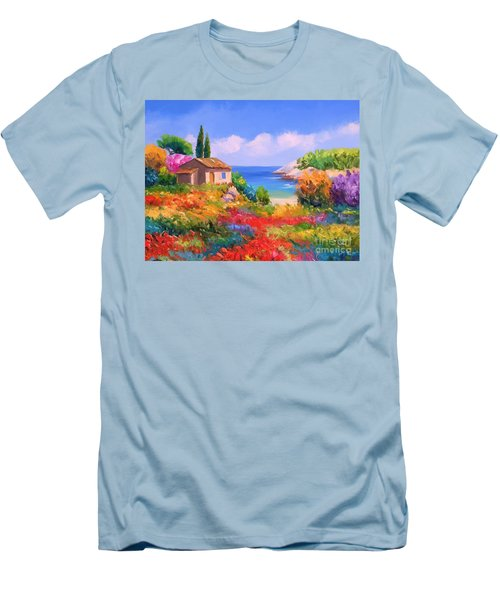 Little House By The Sea Men's T-Shirt (Slim Fit)