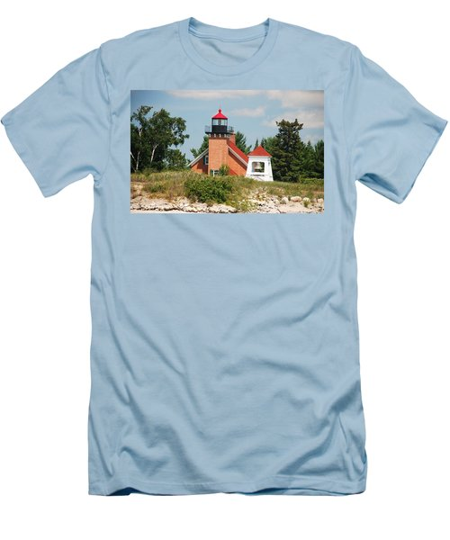 Little Traverse Lighthouse No.2 Men's T-Shirt (Slim Fit) by Janice Adomeit