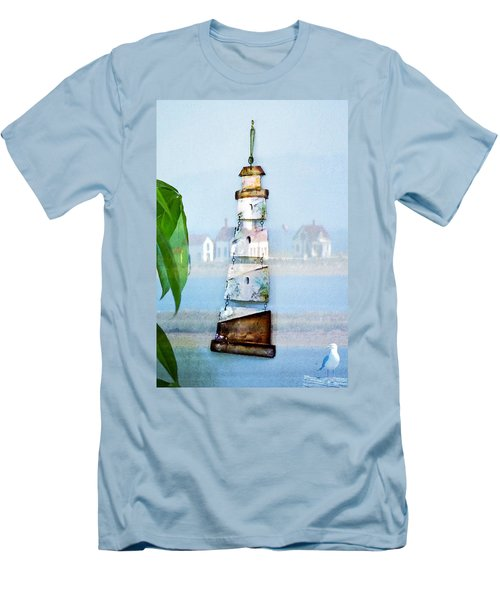 Living By The Sea - Pacific Ocean Men's T-Shirt (Athletic Fit)