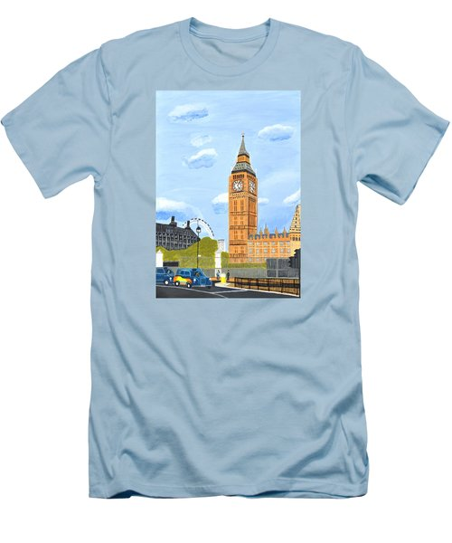 London England Big Ben  Men's T-Shirt (Slim Fit) by Magdalena Frohnsdorff
