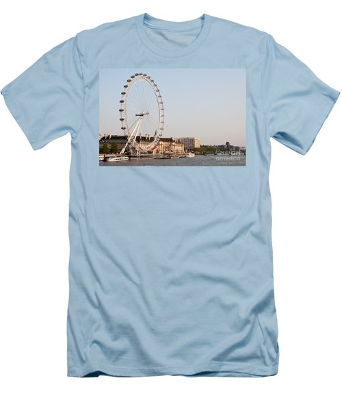 Men's T-Shirt (Slim Fit) featuring the photograph London Eye Day by Matt Malloy