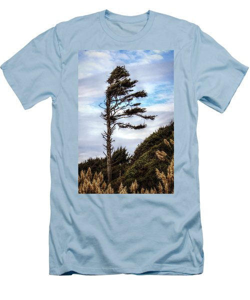 Men's T-Shirt (Slim Fit) featuring the photograph Lone Tree by Melanie Lankford Photography