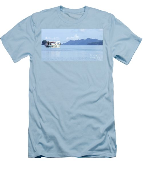 Men's T-Shirt (Slim Fit) featuring the photograph Lonely Boat by Andrea Anderegg