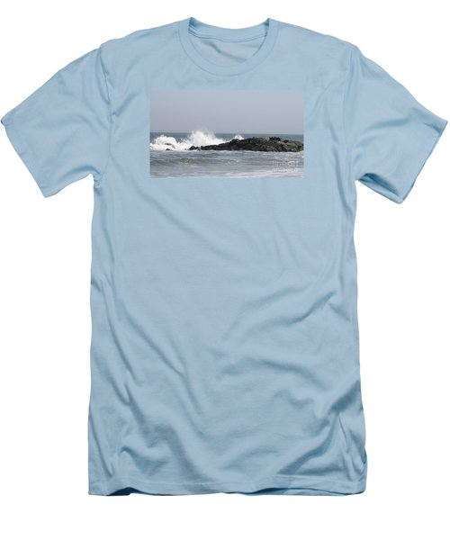 Long Beach Jetty Men's T-Shirt (Slim Fit) by John Telfer