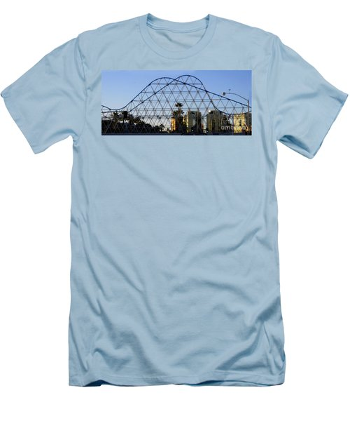 Men's T-Shirt (Athletic Fit) featuring the photograph Long Beach Lines by Clayton Bruster