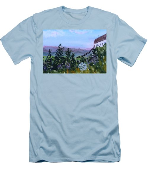Looking Out From Top Of Jay Peak  Men's T-Shirt (Slim Fit) by Donna Walsh