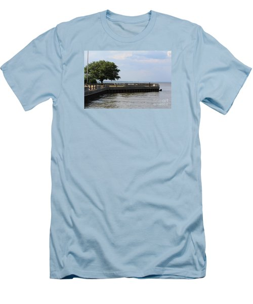 Lookout Point Men's T-Shirt (Slim Fit) by David Jackson
