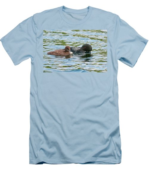 Loon And Baby Men's T-Shirt (Athletic Fit)