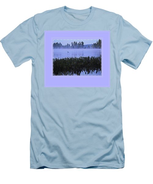 Loon On A Misty Morning At Parker Men's T-Shirt (Slim Fit) by Joy Nichols
