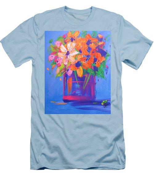Loosey Goosey Flowers Men's T-Shirt (Slim Fit) by Terri Einer