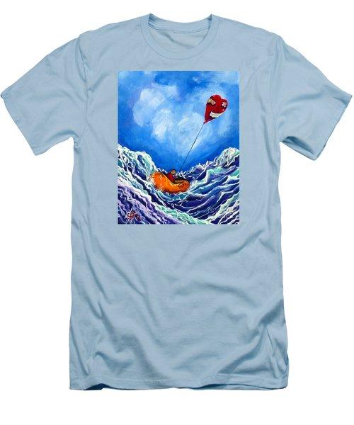 Love's Castaway Men's T-Shirt (Slim Fit) by Jackie Carpenter