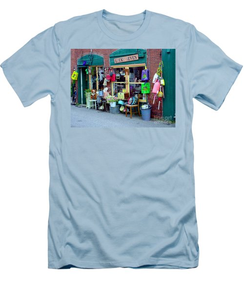 Lucky Seven Men's T-Shirt (Slim Fit) by Kevin Fortier