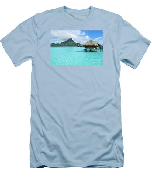 Luxury Overwater Vacation Resort On Bora Bora Island Men's T-Shirt (Athletic Fit)