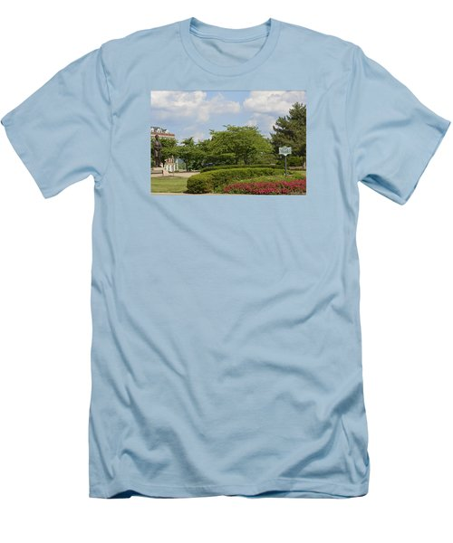 Lytle Park Cincinnati Men's T-Shirt (Slim Fit) by Kathy Barney