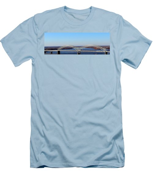 Men's T-Shirt (Slim Fit) featuring the photograph M Bridge Memphis Tennessee by Barbara Chichester