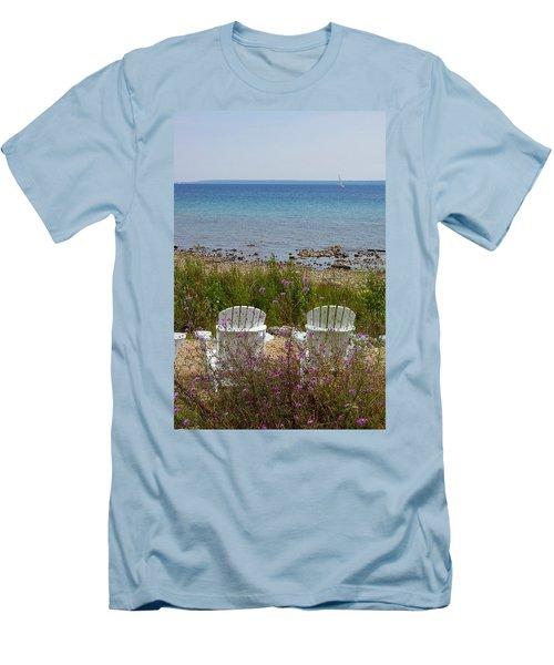 Mackinac View Men's T-Shirt (Athletic Fit)