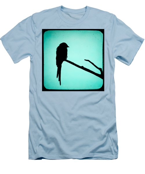 Magpie Shrike Silhouette Men's T-Shirt (Athletic Fit)