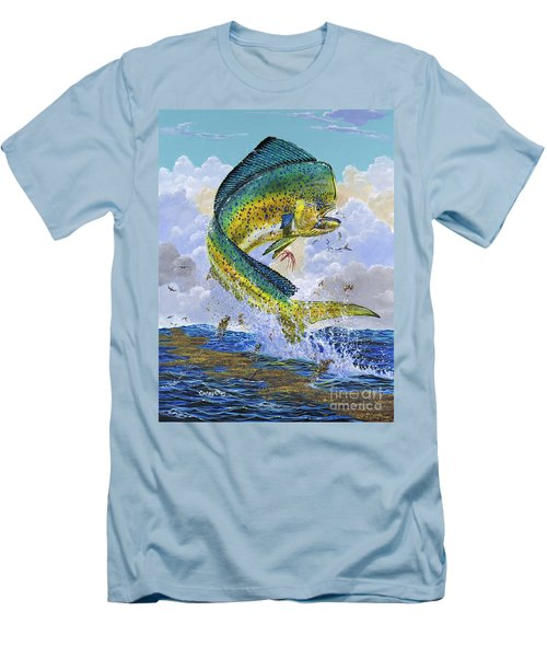 Mahi Hookup Off0020 Men's T-Shirt (Slim Fit) by Carey Chen