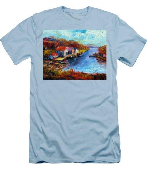 Maine Harbor Men's T-Shirt (Athletic Fit)
