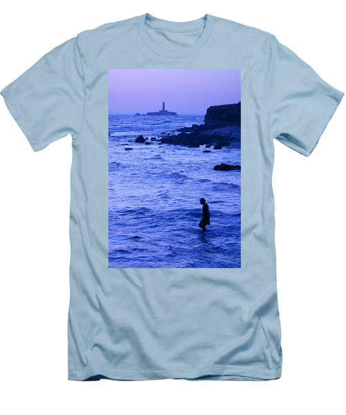 Man And Lighthouse Men's T-Shirt (Athletic Fit)