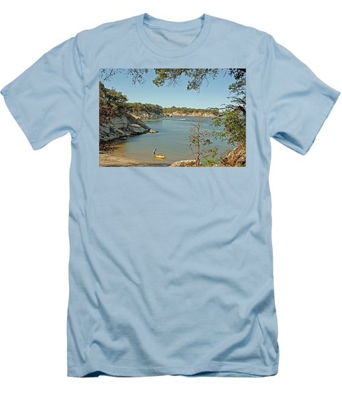 Man Going Kayaking Men's T-Shirt (Athletic Fit)