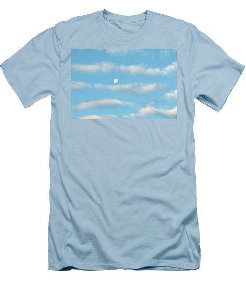 Men's T-Shirt (Slim Fit) featuring the photograph Man In The Moon In The Clouds by Fortunate Findings Shirley Dickerson