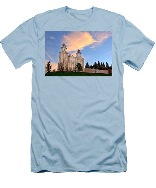 Manti Temple Morning Men's T-Shirt (Athletic Fit)