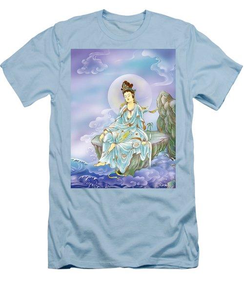 Many Treasures Avalokitesvara  Men's T-Shirt (Slim Fit) by Lanjee Chee
