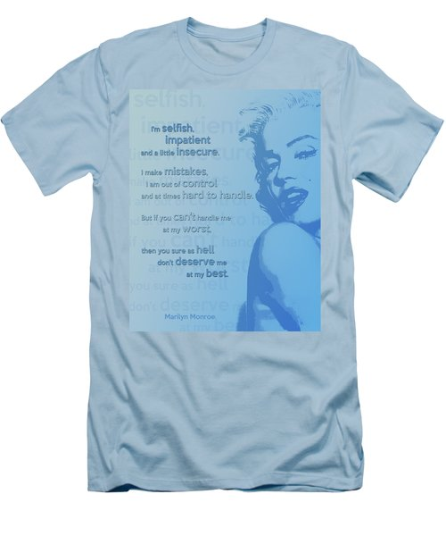 Marilyn Quote Men's T-Shirt (Athletic Fit)